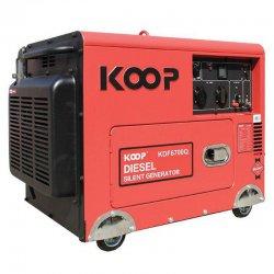 موتور برق دیزلی کم صدا کوپ مدل KDF6700Q