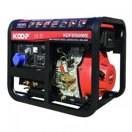 موتور برق دیزلی کم صدا کوپ مدل KDF8500Q