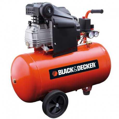 کمپرسور هوا 50 لیتری چرخ دار بلک اند دکر مدل BD 205/50